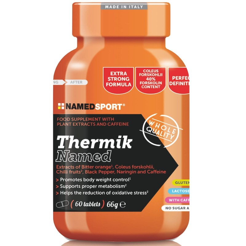 NAMED SPORT Thermik 60cpr. Termogenico con Forskolina Bioperine Coleus - BRUCIA GRASSI TERMOGENICI in vendita su Nutribay.it