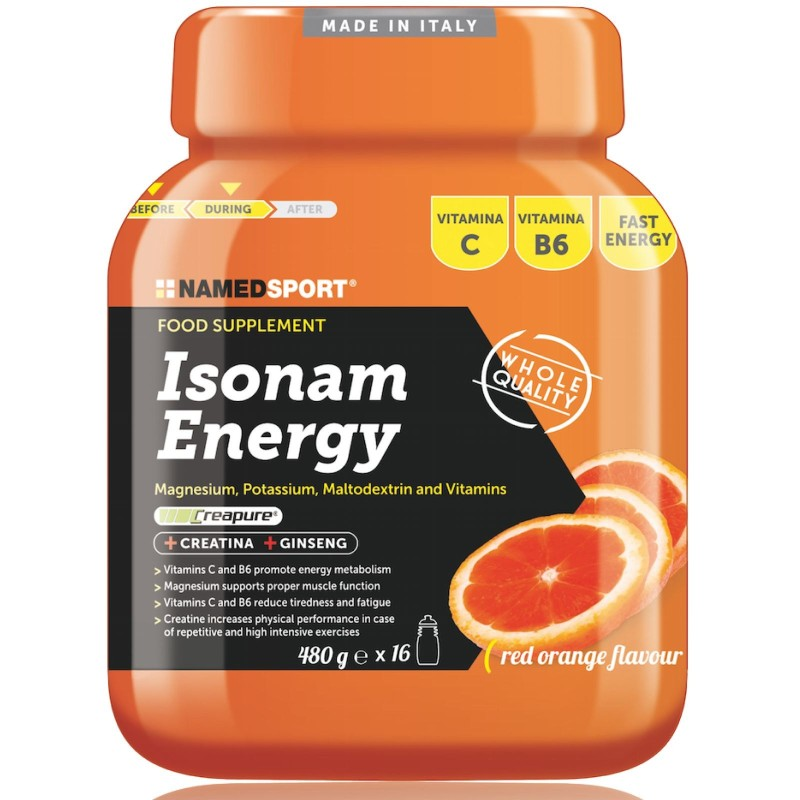 NAMED Isonam Energy 480g Isotonica Sali Minerali Magnesio Potassio Maltodestrine in vendita su Nutribay.it