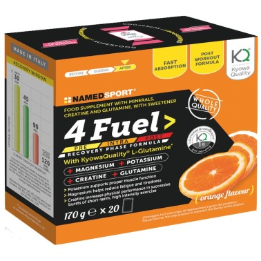 NAMED 4 Fuel Post-Workout con Magnesio Potassio Creatina e L-Glutammina Kylowa in vendita su Nutribay.it