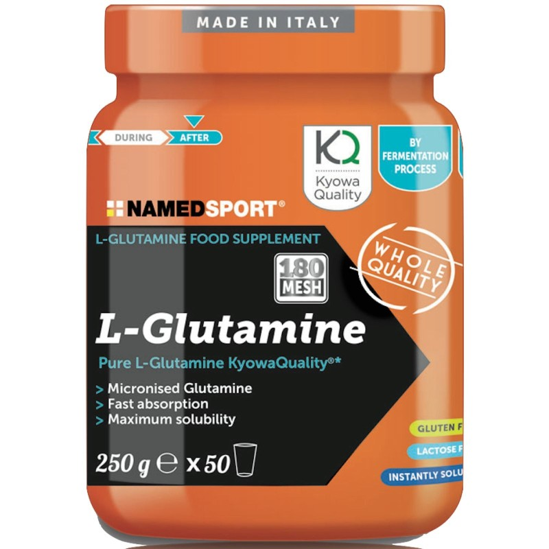 NAMED SPORT L-Glutammine 250 gr. Pura Glutammina Qualita' Kyowa Glutamina - GLUTAMMINA in vendita su Nutribay.it