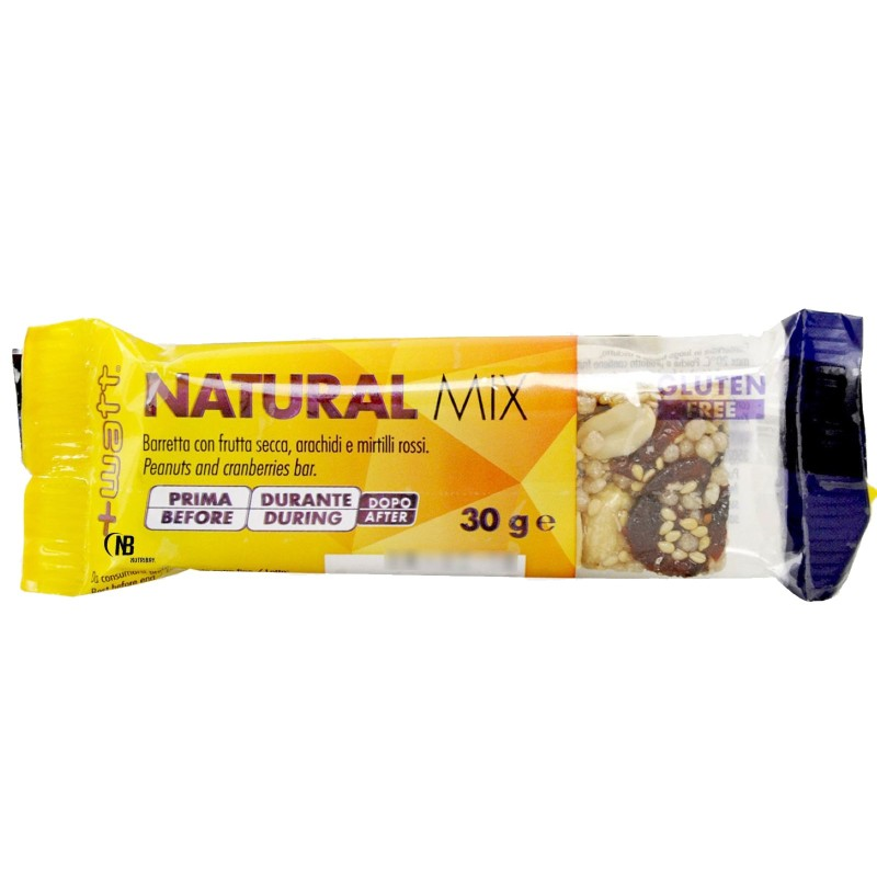 +WATT NATURAL MIX 24 Barrette Energetiche 30gr. con Mandorle Arachidi e Anacardi - BARRETTE in vendita su Nutribay.it