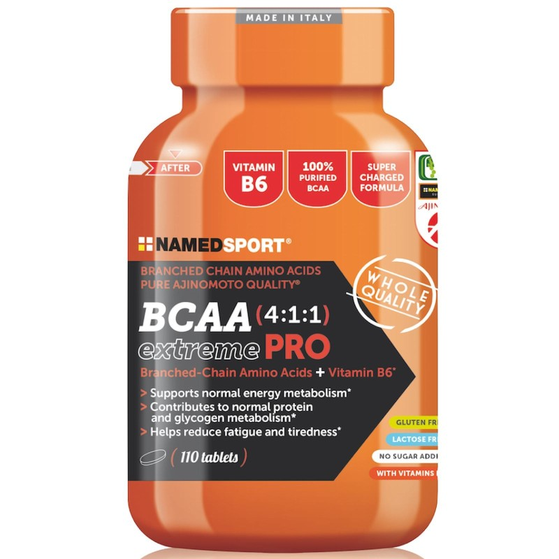 NAMED SPORT BCAA Extreme PRO 4:1:1 110cpr Aminoacidi Ramificati 411 con Vitamine in vendita su Nutribay.it