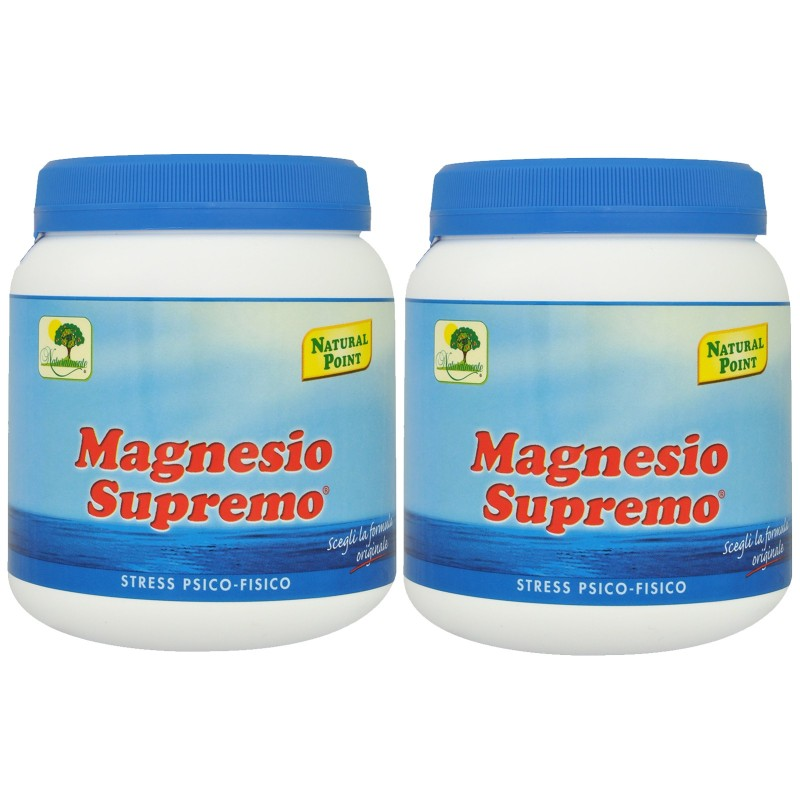 Magnesio Supremo NATURAL POINT 2 x 300 gr Antistress Psico Fisico Energizzante - BENESSERE-SALUTE in vendita su Nutribay.it