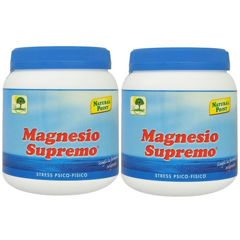 Magnesio Supremo NATURAL POINT 2 x 300 gr Antistress Psico Fisico Energizzante in vendita su Nutribay.it