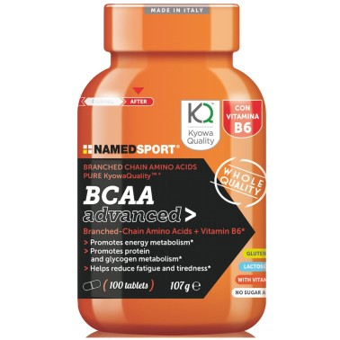 Named Sport BCAA ADVANCED 2:1:1 100 cpr. Aminoacidi Ramificati con Vitamina b6 - AMINOACIDI KYOWA in vendita su Nutribay.it