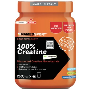 NAMED SPORT 100% CREATINE 250 gr CREATINA CREAPURE MICRONIZZATA - CREATINA - in vendita su Nutribay.it
