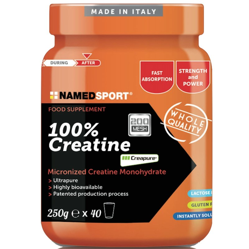 NAMED SPORT 100% CREATINE 250 gr CREATINA CREAPURE MICRONIZZATA in vendita su Nutribay.it