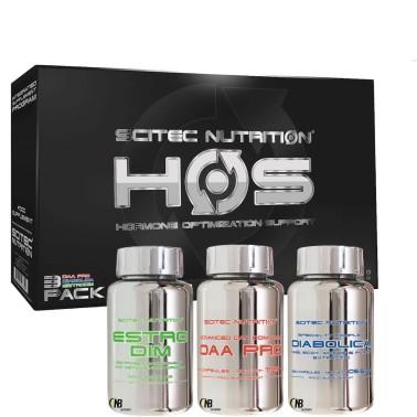 Scitec HOS 250 cps. Kit Ottimizzatore Ormonale Testosterone Booster 3 prodotti!