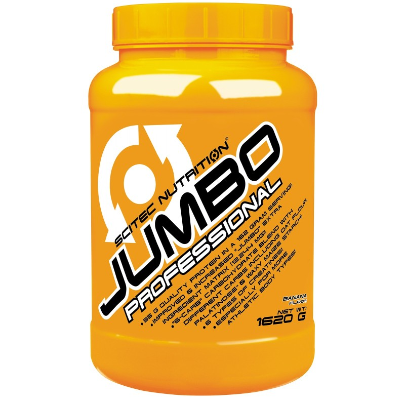 SCITEC Jumbo Professional 1620 gr Mega Mass Gainer con Bcaa Proteine e Creatina in vendita su Nutribay.it