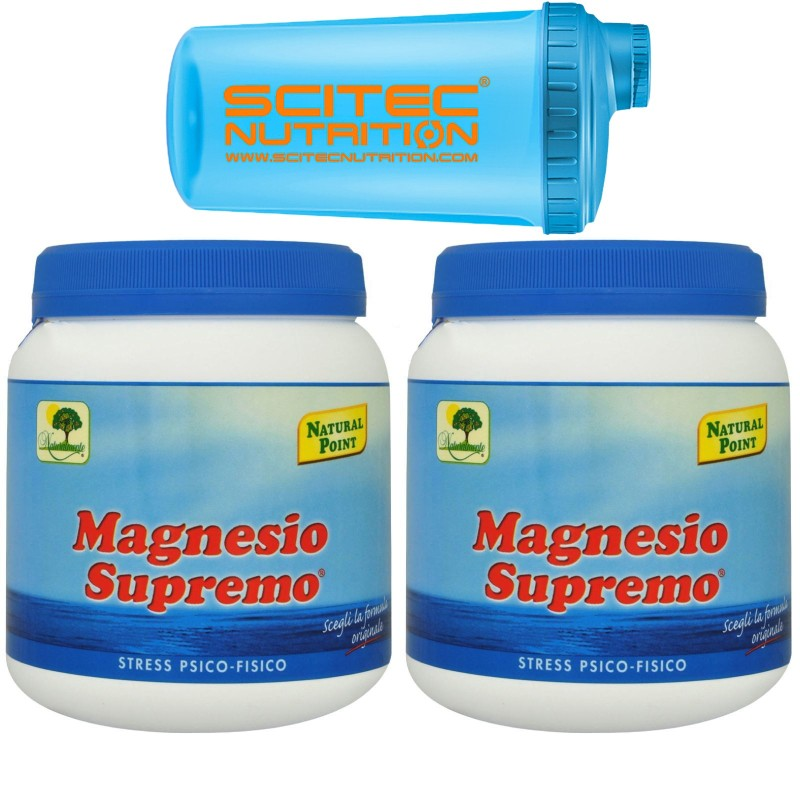 Magnesio Supremo NATURAL POINT 2x 300 gr Minerale Citrato Carbonato Anti Stress in vendita su Nutribay.it