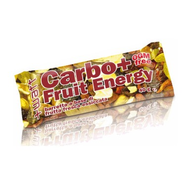 +WATT CARBO+ FRUIT ENERGY 24 Barrette Energetiche da 40 g a base di Frutta Secca