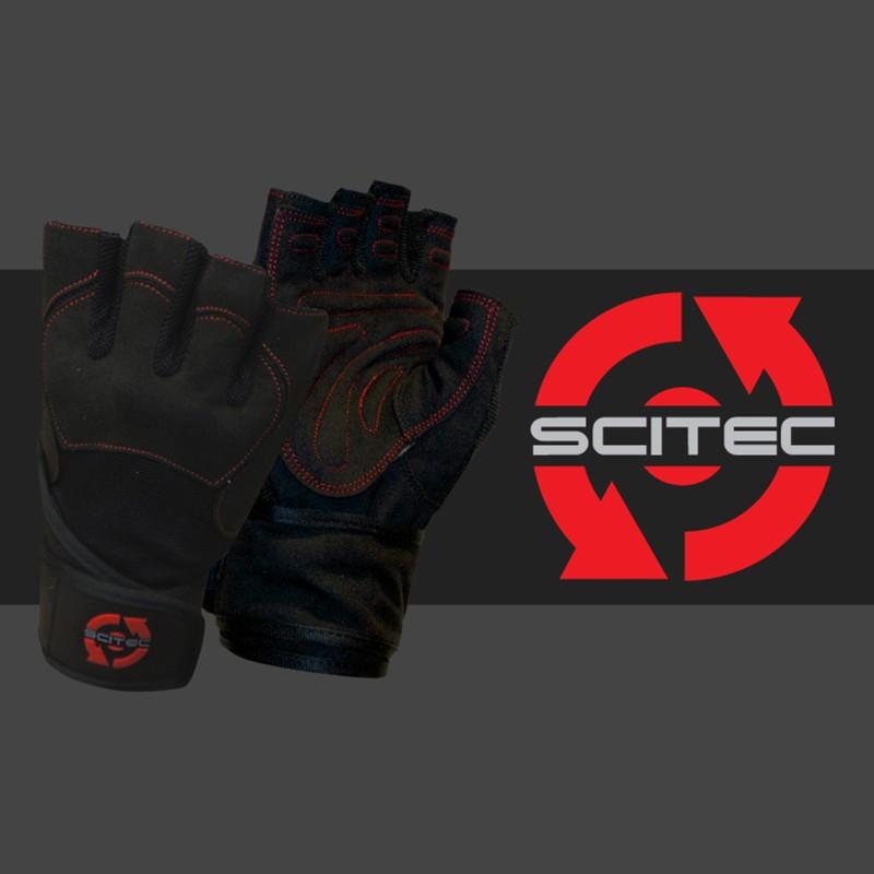 Scitec Nutrition GUANTI Da Palestra Body Building Red Style