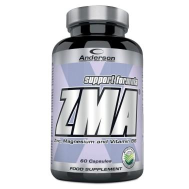 Anderson ZMA 60 cps Magnesio Zinco Vitamina B6 Anabolico per Testosterone e Gh