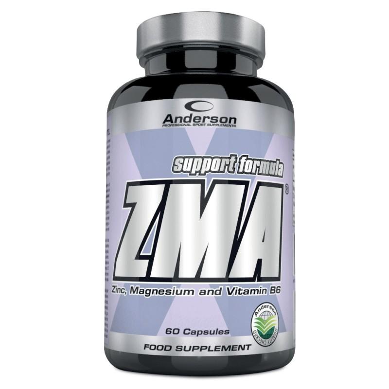 ANDERSON ZMA 60 cps Magnesio Zinco Vitamina B6 Anabolico per Testosterone e Gh in vendita su Nutribay.it