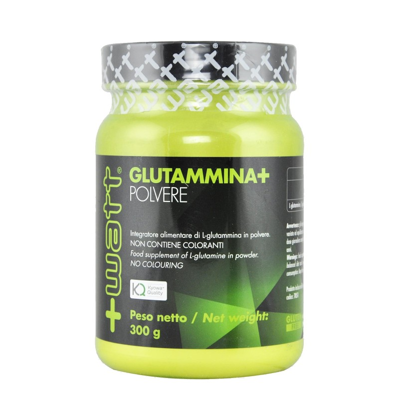 +WATT Glutammina+ 300 gr. Pura Glutamina in Polvere Kyowa Amino Anticabolico in vendita su Nutribay.it