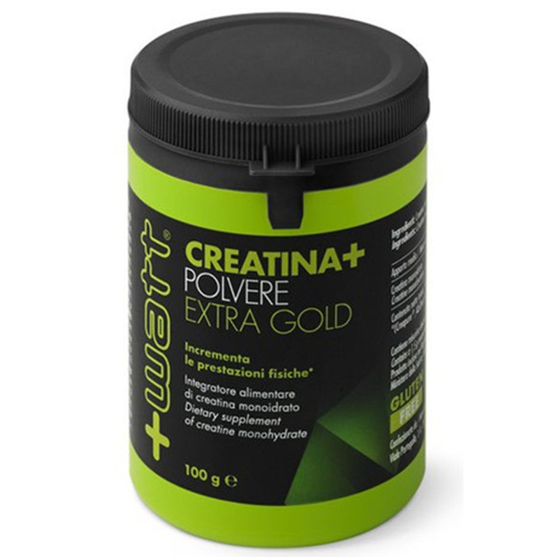+WATT Creatina+ Pura Creatine Monoidrato in povere 100 gr. Extra Gold Creapure - CREATINA in vendita su Nutribay.it