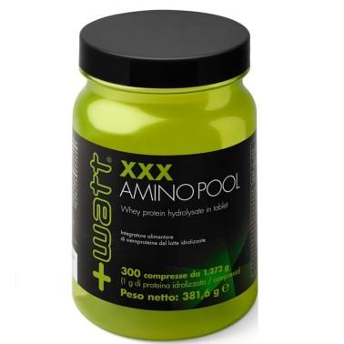 +WATT XXX Amino Pool 300 cpr. Aminoacidi Da Proteine del Siero Idrolizzate - AMINOACIDI COMPLETI in vendita su Nutribay.it