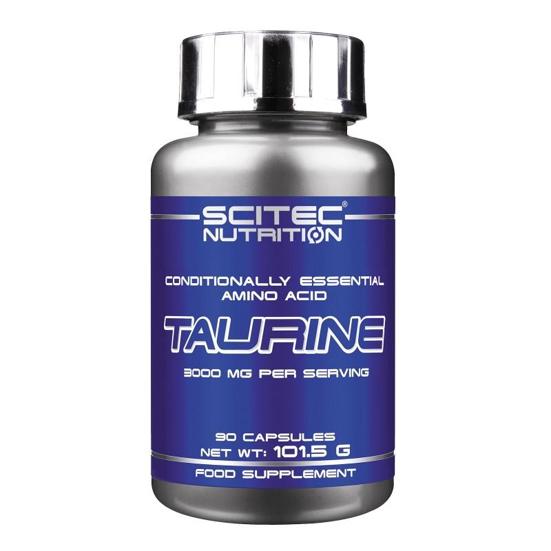 SCITEC NUTRITION Taurine 90 cps. Pure Taurina Aminoacidi Essenziali Energetico in vendita su Nutribay.it