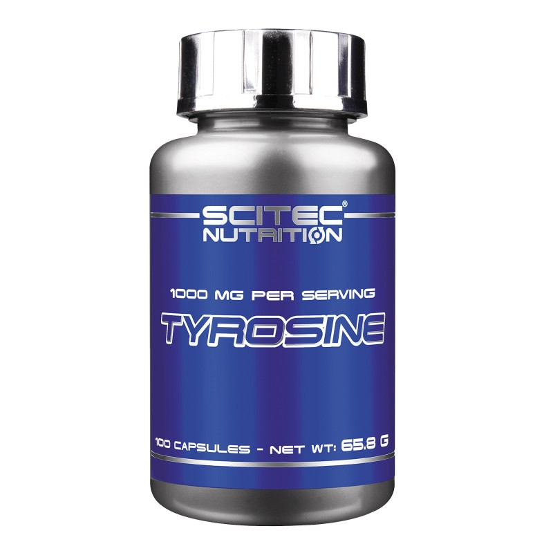 SCITEC NUTRITION Tyrosine 100 cps L-Tirosina Aminoacido Pre-Workout Offerta in vendita su Nutribay.it