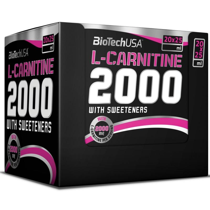 Biotech L-Carnitine 2000 20 Ampolle di Carnitina Liquida Alto Dosaggio - CARNITINA in vendita su Nutribay.it