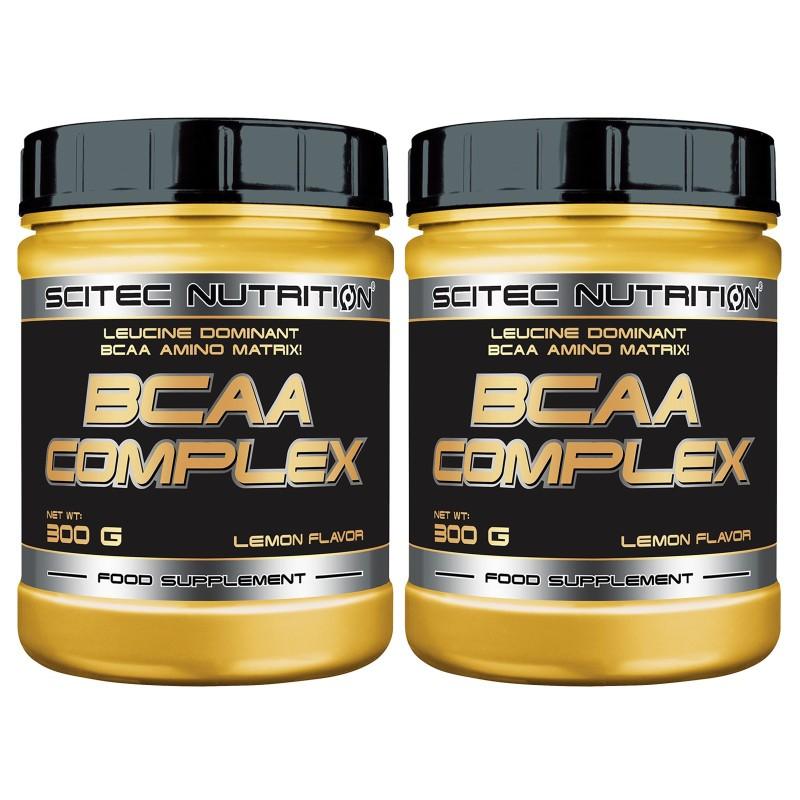 SCITEC NUTRITION Bcaa Complex 2x300g. 8:1:1 Aminoacidi Ramificati in Polvere 811
