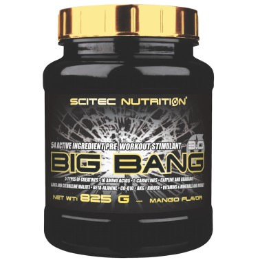 SCITEC BIG BANG 3.0 825g ARANCIO PRE WORKOUT CREATINA BCAA BETA ALANINA AAKG