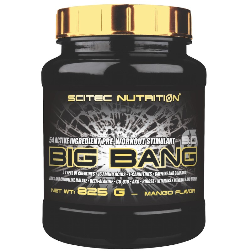 SCITEC BIG BANG 3.0 825g ARANCIO PRE WORKOUT CREATINA BCAA BETA ALANINA AAKG in vendita su Nutribay.it