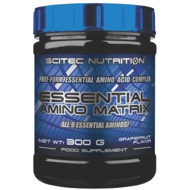 Scitec Essential Amino Matrix 300 gr Aminoacidi Essenziali Aromatizzati - AMINOACIDI COMPLETI - in vendita su Nutribay.it