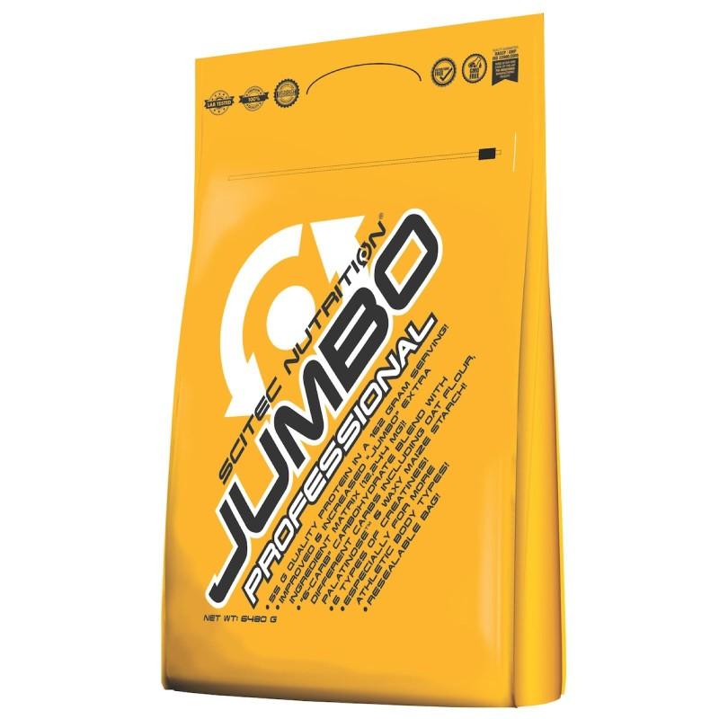Scitec Jumbo Professional 6480 gr Mega Mass Gainer con Bcaa Proteine e Creatina in vendita su Nutribay.it