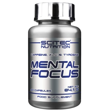 SCITEC Mental Focus 90 cps. Anti Stress con Acetyl Carnitina Tirosina e Caffeina in vendita su Nutribay.it
