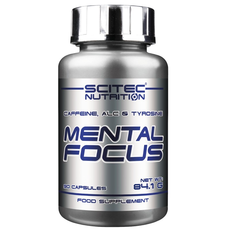 SCITEC Mental Focus 90 cps. Anti Stress con Acetyl Carnitina Tirosina e Caffeina - BENESSERE-SALUTE - in vendita su Nutribay.it