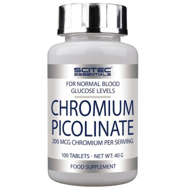 SCITEC NUTRITION Chromium Picolinate 100 cpr. Cromo Picolinato BRUCIA GRASSI in vendita su Nutribay.it