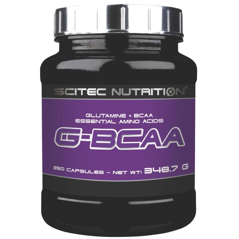 SCITEC NUTRITION G-BCAA 250 cps. AMINOACIDI RAMIFICATI CON GLUTAMMINA - AMINOACIDI BCAA in vendita su Nutribay.it