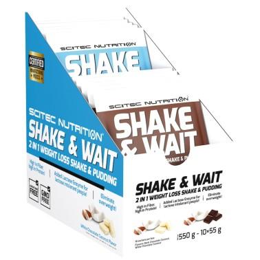 Scitec Shake and Wait 10 Buste da 50 gr. Budino per Perdita di Peso Carnitina - ALIMENTI PROTEICI - in vendita su Nutribay.it