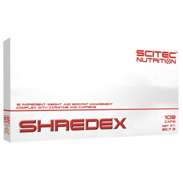 Scitec Shredex 108 cps. Termogenico Garcinia Tarassaco L-Carnitina Cromo BRUCIA GRASSI TERMOGENICI in vendita su Nutribay.it