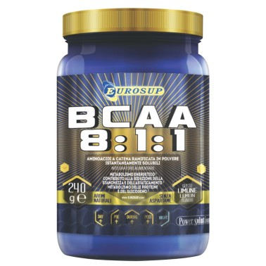 Eurosup BCAA 8:1:1 240 gr. Aminoacidi Ramificati 811 in Polvere con Vitamine in vendita su Nutribay.it