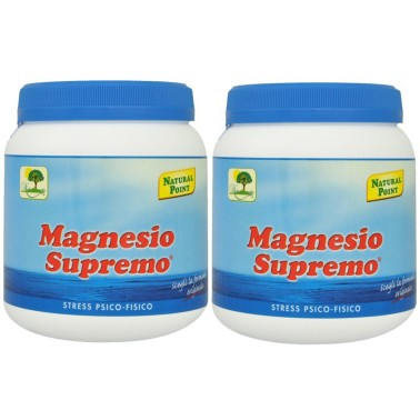 Magnesio Supremo NATURAL POINT 2 x 300 gr Anti Stress Psico Fisico Energizzante in vendita su Nutribay.it