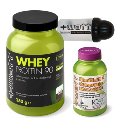 +WATT Proteine del Siero Latte Isolate Whey 90 750 gr + 100 Aminoacidi Ramificati in vendita su Nutribay.it