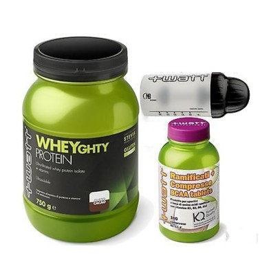 +WATT Wheyghty Proteine Del Siero Del Latte Isolate 750gr + 100 Aminoacidi Kyowa in vendita su Nutribay.it