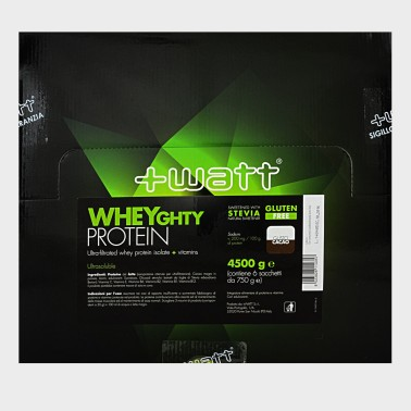 +WATT Wheyghty 6x750 gr 4,5 kg Proteine Del Siero Del Latte Isolate + Vitamine in vendita su Nutribay.it