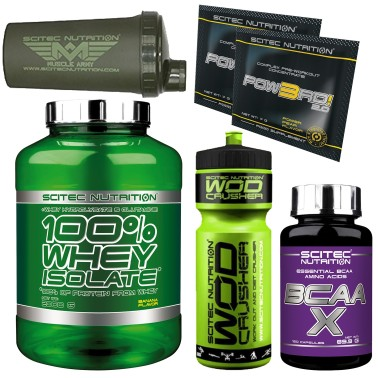 SCITEC 100% Whey Isolate 2000gr 2 Kg Proteine siero latte + 120 Aminoacidi Bcaa in vendita su Nutribay.it
