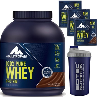 MULTIPOWER 100% Pure Whey Protein 2000 ( 2 kg ) Siero del Latte + OMAGGIO SCITEC - PROTEINE in vendita su Nutribay.it