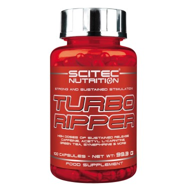 SCITEC TURBO RIPPER 100 cps TERMOGENICO BRUCIA GRASSI DIMAGRANTE CON CARNITINA in vendita su Nutribay.it