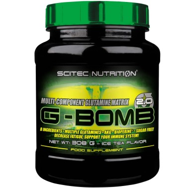 Scitec Nutrition G Bomb 308g. Glutammina Acido Folico Bioperina Akg Alanina - GLUTAMMINA in vendita su Nutribay.it