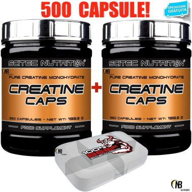 SCITEC NUTRITION Creatine Caps 500 Capsule di Pura Creatina Monoidrato + Omaggio - CREATINA in vendita su Nutribay.it