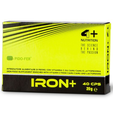 4+ Nutrition Promo Iron+ 40 caps Integratore di Ferro con Vitamina C - SALI MINERALI in vendita su Nutribay.it