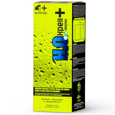 4+ Nutrition H2O Xpell + Drena 500 ml drenanate con te Verde e Ananas in vendita su Nutribay.it
