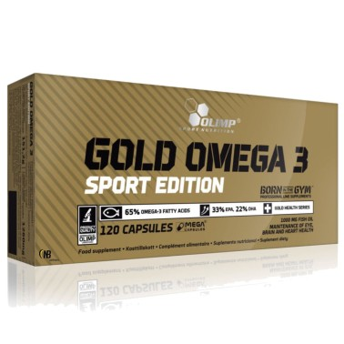 Olimp Gold Omega 3 Sport edition 120 caps EPA e DHA + Vitamina E in vendita su Nutribay.it