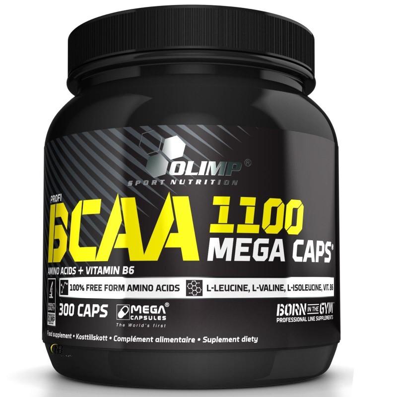 Olimp Bcaa Mega caps 1100 300 cps. Aminoacidi 2:1:1 ramificati con B6 in vendita su Nutribay.it