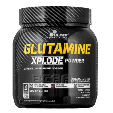 Olimp Glutamine Xplode Powder 500 gr. Glutammina con Vitamine b6 b12 e C in vendita su Nutribay.it